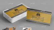 کارت ویزیت لایه باز آژانس تاکسی