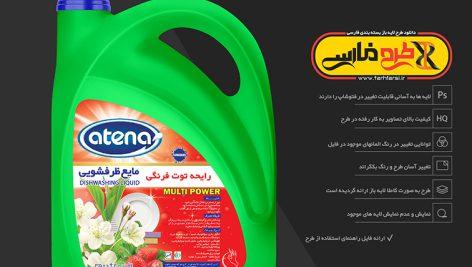 موکاپ ظرف 4 لیتری مایع ظرف شویی و مایع دستشویی